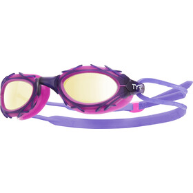 TYR Nest Pro Nano Goggles Metallisiert gold/purple